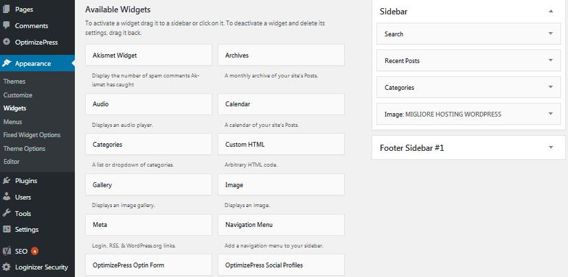Ho scritto una guida su come impostare al meglio i Widget di WordPress